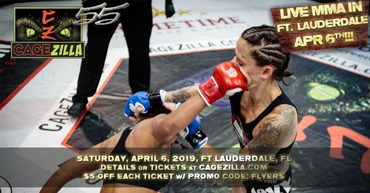 CageZilla 55- LIVE MMA