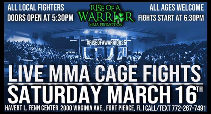 Rise Of A Warrior 25: Live MMA Cage Fights