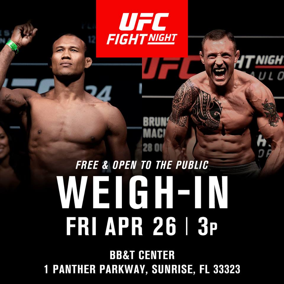 UFC FLorida Weigh Ins