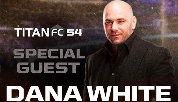Dana White filming Lookin' For a Fight at Titan FC 54 before UFC Ft. Lauderdale