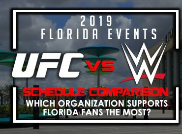 UFC Florida Visits vs WWE Florida Visits – Not even close !